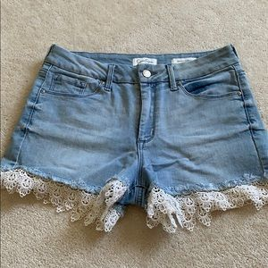 Jessica Simpson Lace Jean Shorts
